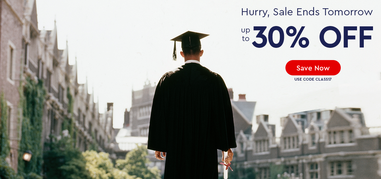 Hurry, Sale Ends Tomorrow - up to 30% Off - use code CLASS17