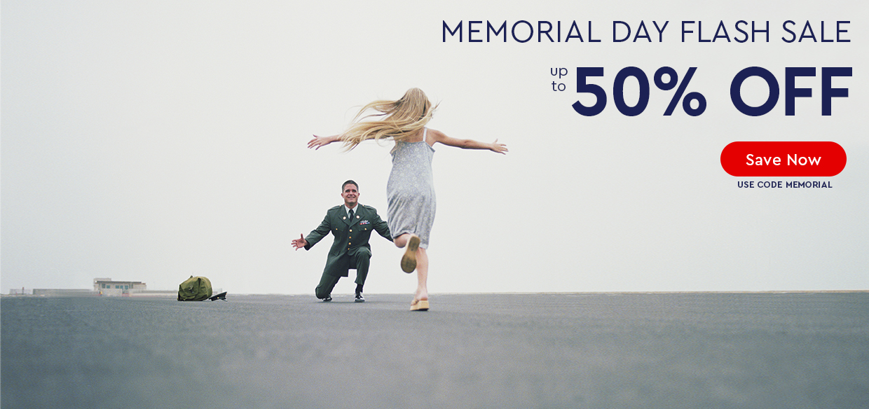 MEMORIAL DAY FLASH SALE - UP TO 50% OFF - Use code MEMORIAL
