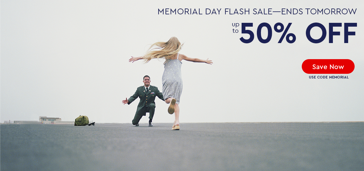 MEMORIAL DAY FLASH SALE ENDS TOMORROW - UP TO 50% OFF - Use code MEMORIAL