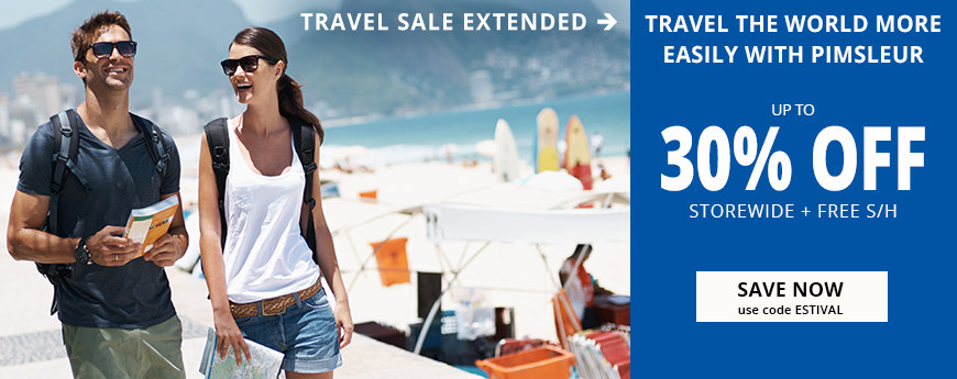Summer Travel Sale Extended - Save up to 30% - use code ESTIVAL