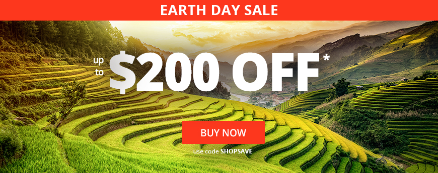 EARTH DAY SALE - UP TO $200 OFF STOREWIDE - Use code SHOPSAVE