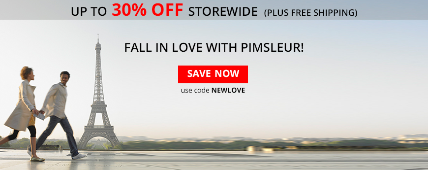Valentine's Day Sale - Fall in Love with Pimsleur - up to 30% Off - use code NEWLOVE