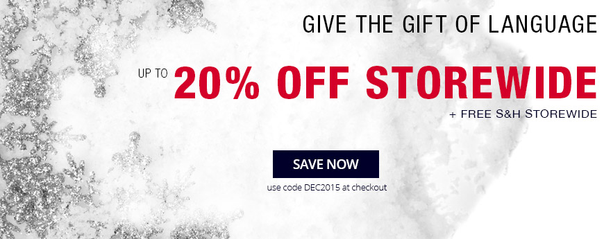 Give the Gift of Language - up to 20% Off Storewide