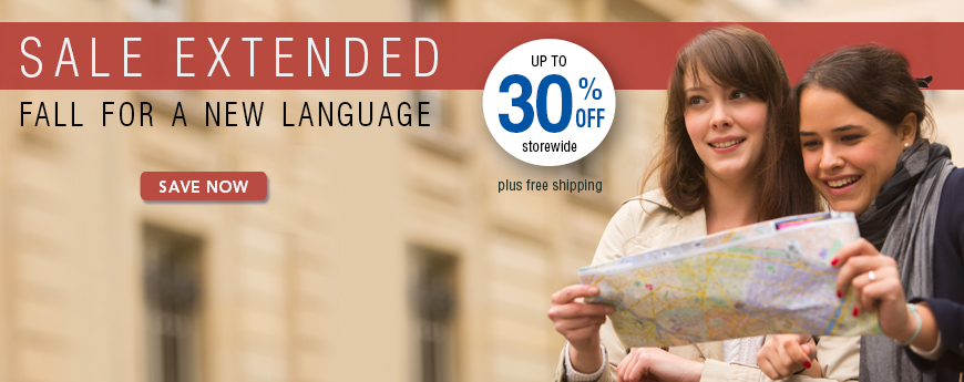 FALL FOR A NEW LANGUAGE - Up to 30% OFF Storewide
