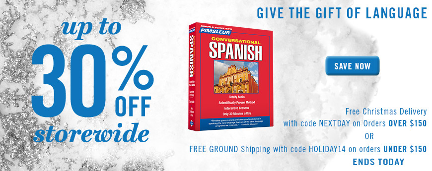 Give the Gift of Language. Up to 30% OFF Storewide.