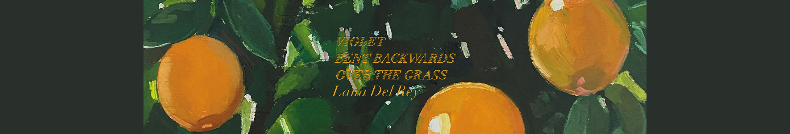 Violet Bent Backwards Over the Grass