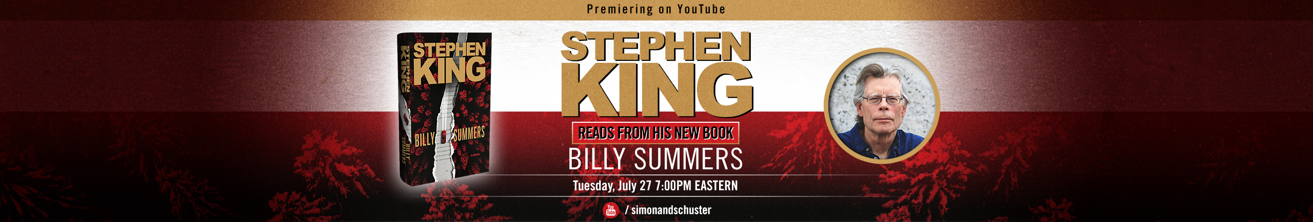 Stephen King Reads from His New Novel Billy Summers