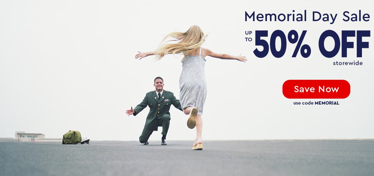 MEMORIAL DAY SALE!—UP TO 50% OFF STOREWIDE—use code MEMORIAL